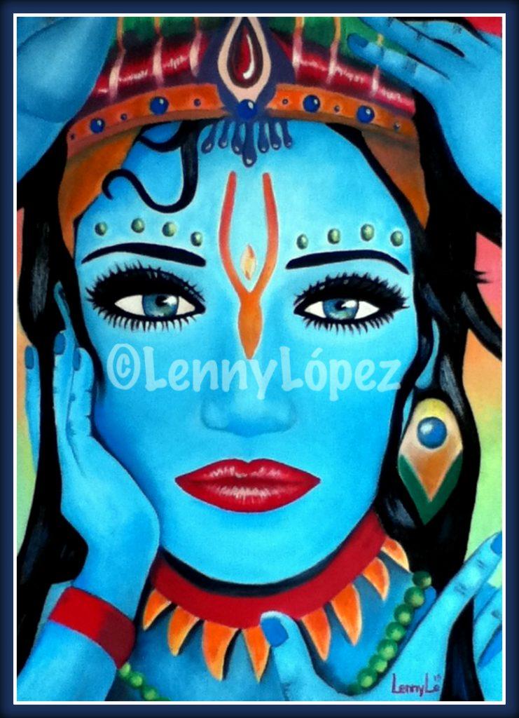 Mujer Azul / Blaue Frau. Öl auf Leinwand 70 x 50 cm. 2013. € 220,00