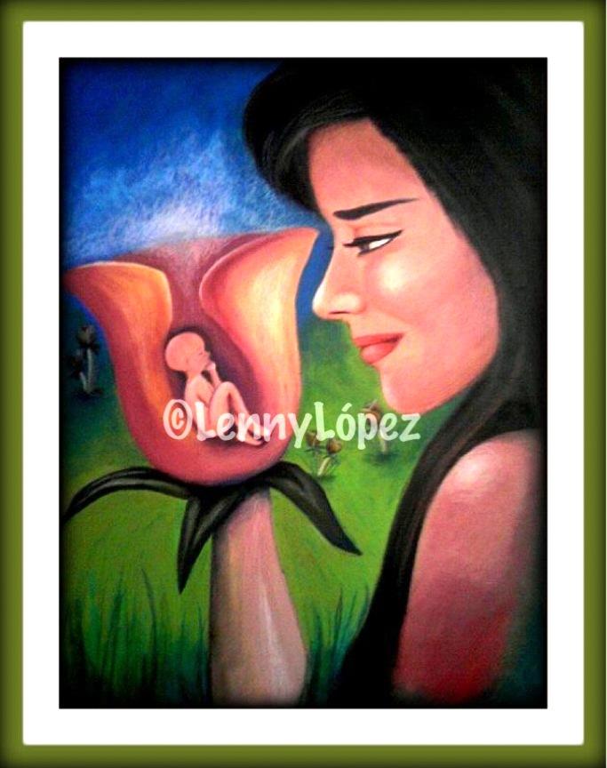 Madre Naturaleza / Mutter Natur. Acryl auf Holz. 48 x 36 cm. 2010. Verkauft.