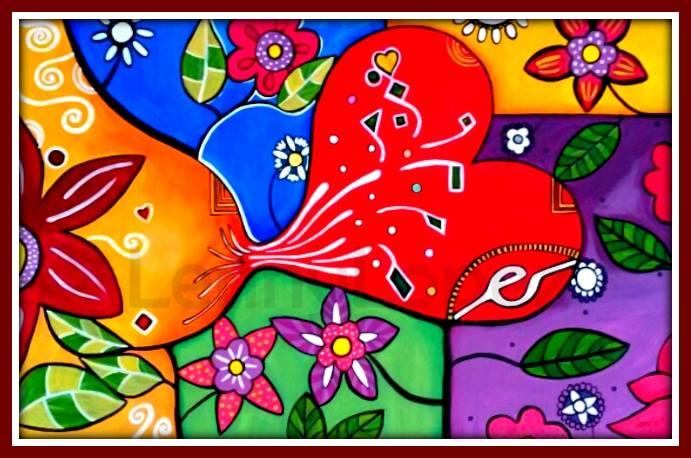 El amor y la vida. Acrílico sobre tela. 115 x 75 cm. 2015. € 440,00. Vendido (pero con la posibilidad de pintar algo parecido).