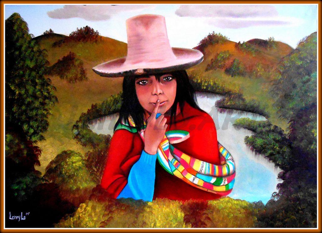 La niña perdida. Oleo sobre tela. 70 x 50 cm. 2014. € 290,00.