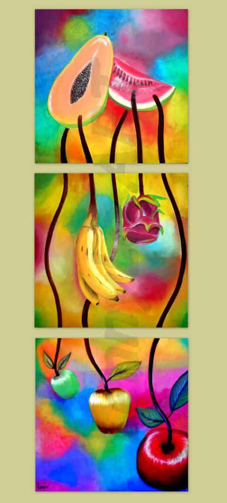 Sabores. Oleo sobre tela. Cada uno 40 x 40 cm. 2013-14. € 290,00.
