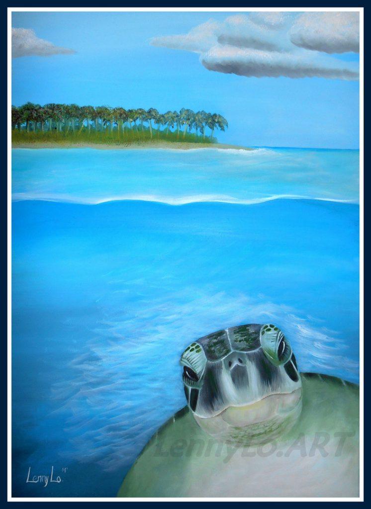 Saludo del mar. Oleo sobre tela. 70 x 50 cm. 2014. € 220,00.