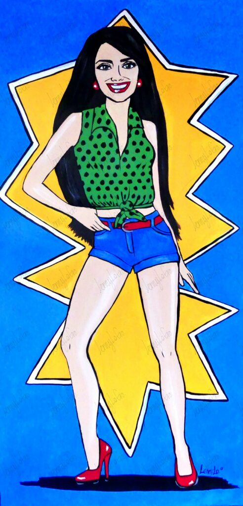 Pop Latina. Acryl auf Leinwand 100 x 50 cm. 2018. € 220,00.