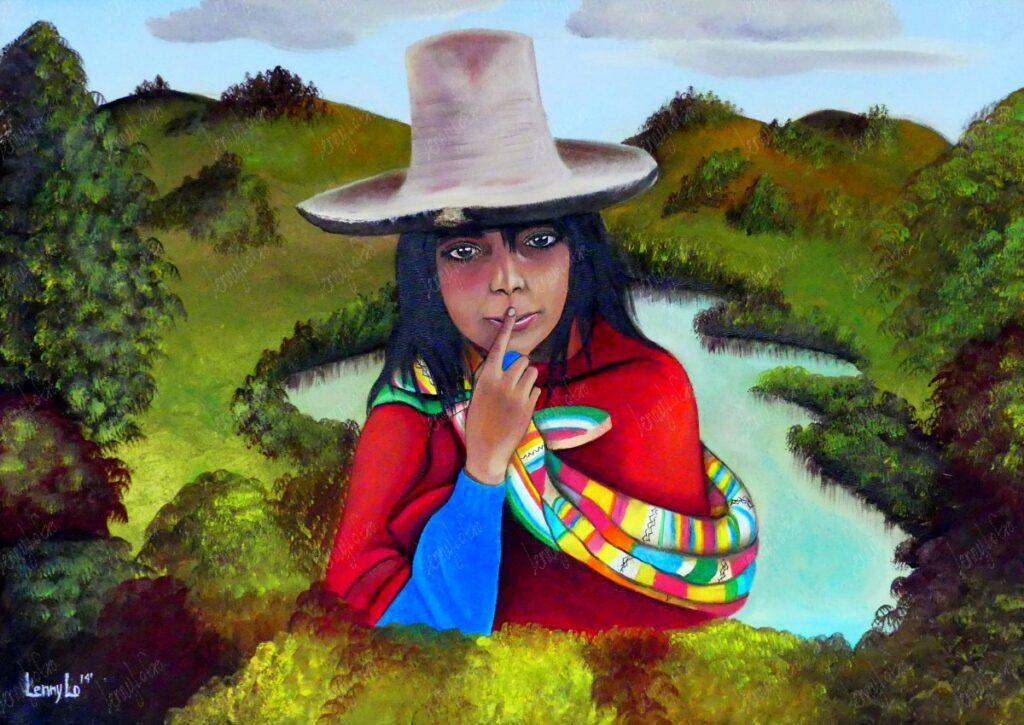 La niña perdida / Das verlorene Mädchen. Öl auf Leinwand. 70 x 50 cm. 2014. € 290,00.