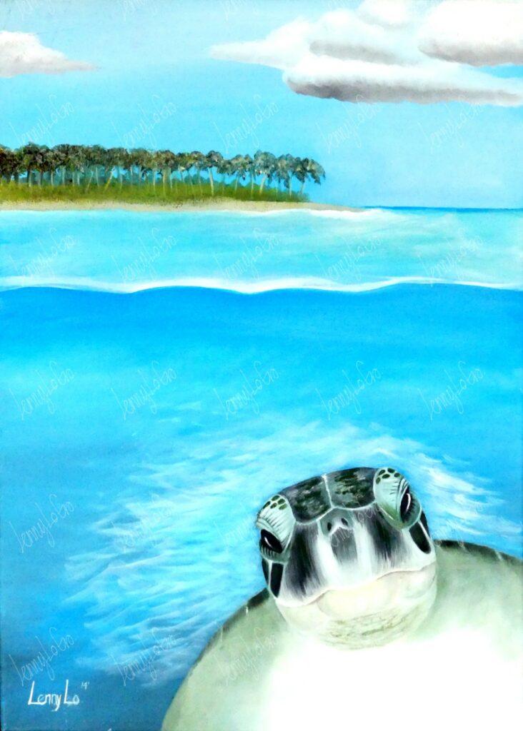 Saludo del mar / Gruss aus dem Meer. Öl auf Leinwand 70 x 50 cm. 2014. € 220,00.